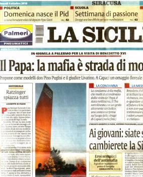 """Attēlu rezultāti vaicājumam """"sicīlijas mafija pāvests bonis.lv"""""""