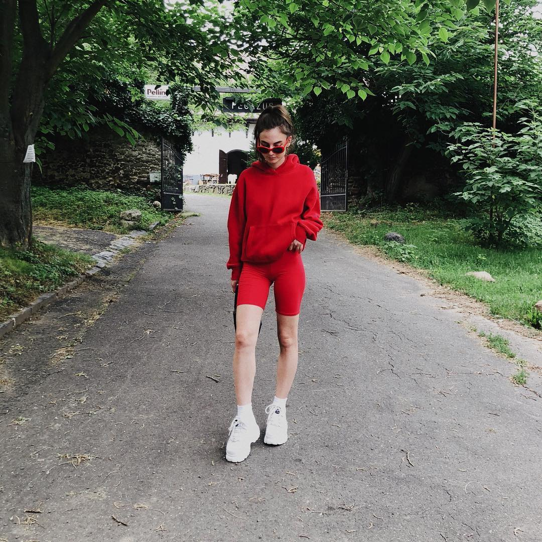 "Instagram Image by Veronika | Styling Videos (@whatverowears) with caption : ""Loving an all red combo🔴"" at Szentbékkálla - 1803102673625568466"